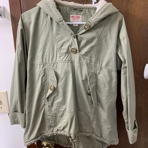 Army Green women's pullover jacket